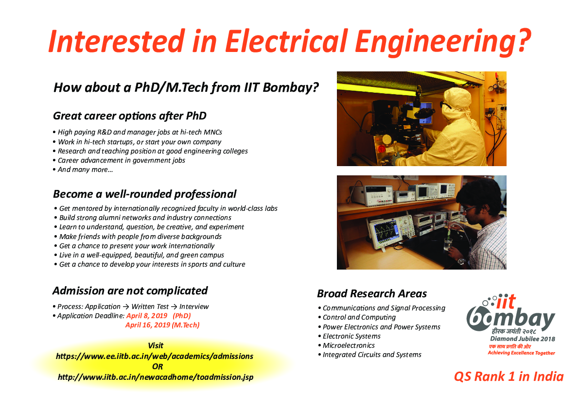 Department of Electrical Engineering, IIT Bombay
