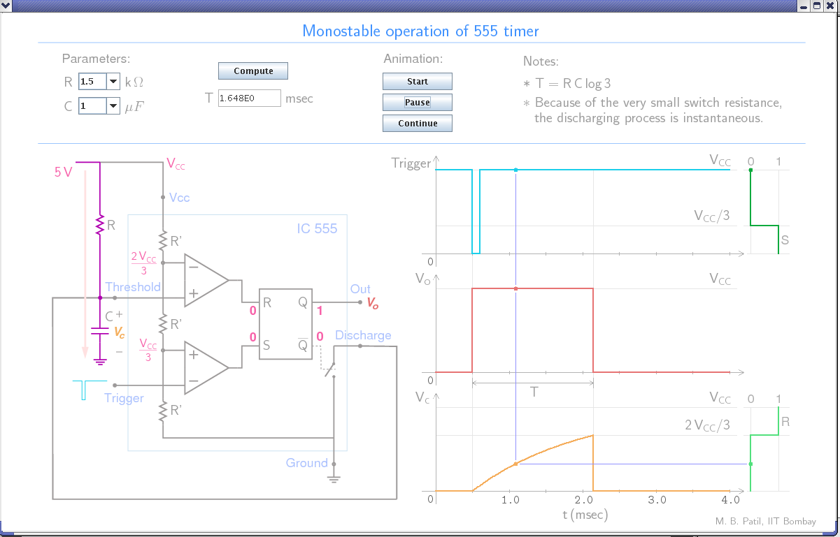 Course Material Mbp 555 Timer Circuits Monostable Using