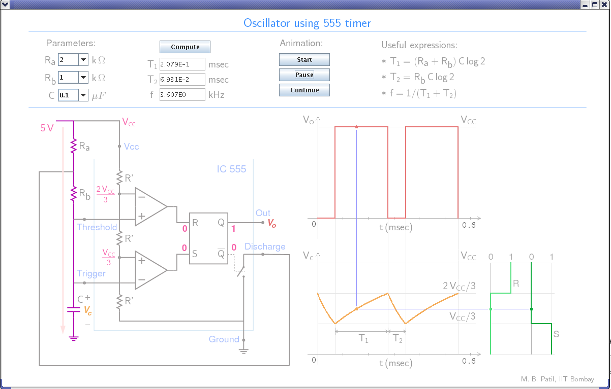 Course Material Mbp Ic 555 Diagram Oscillator Using
